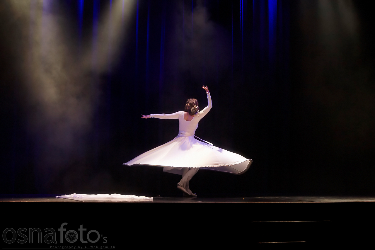 Dervish Tanz von Gabriele auf dem Festival 360 Orient in Osnabrueck
