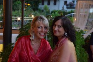 Maria und Ingrid backstage bei der Oriental Night im Hotel Steiner in Leifers 2018