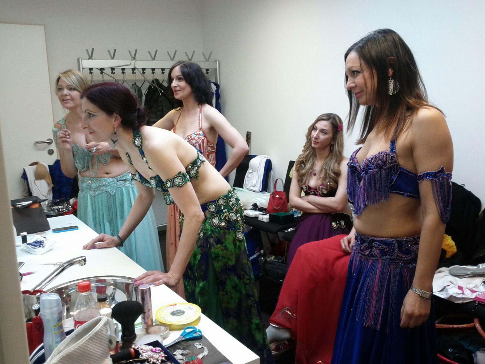 Backstage in Zirl bei Evelines Jubilaeumsshow 2016